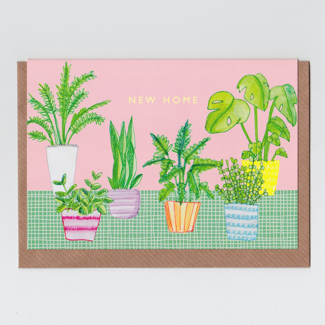 New Home Card - House Plants