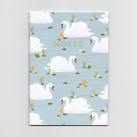 A6 Mini Notebook - Blue Swan