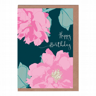 Happy Birthday, Peony, Illustrated Greetings Card
