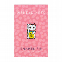 Maneki Neko (Lucky Cat), Enamel Pin