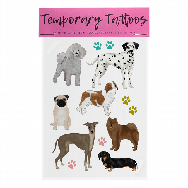 Temporary Tattoos: Dogs