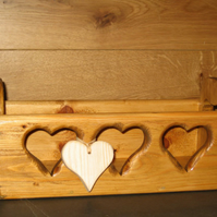 Reclaimed Pine wooden heart box