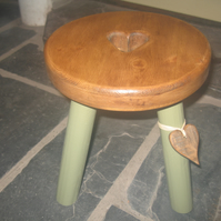Pine topped milking stool