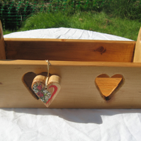 Pallet Wood Heart Storage box