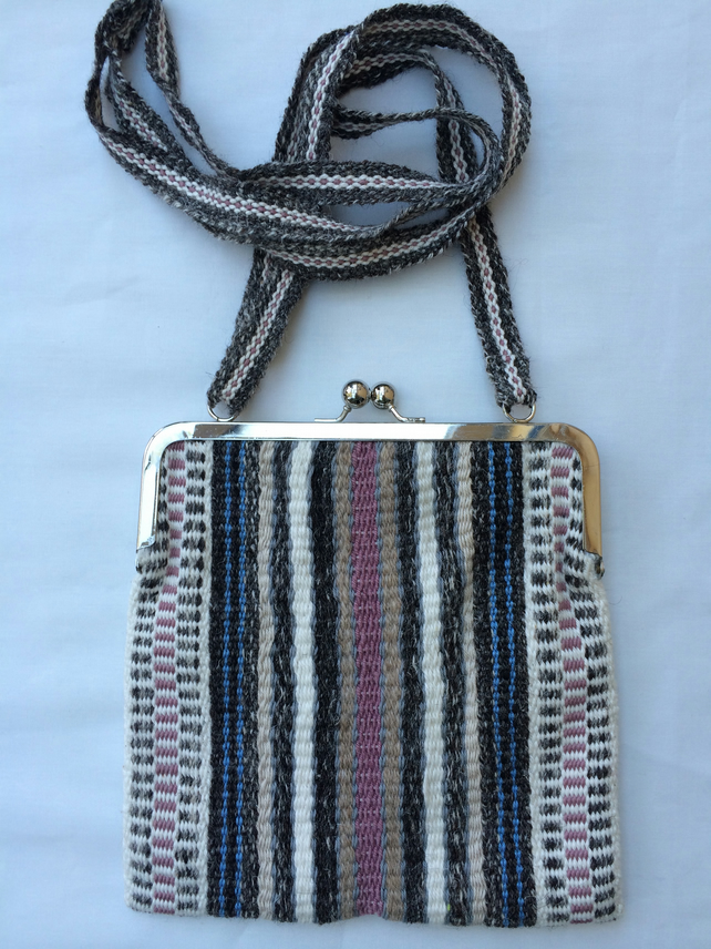 Handwoven shoulder bag or large purse