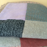 Patchwork wool throw