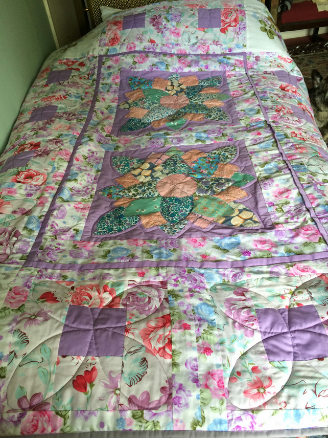 Pretty patchwork quilt
