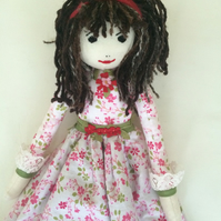 Sophie rag doll nightdress case