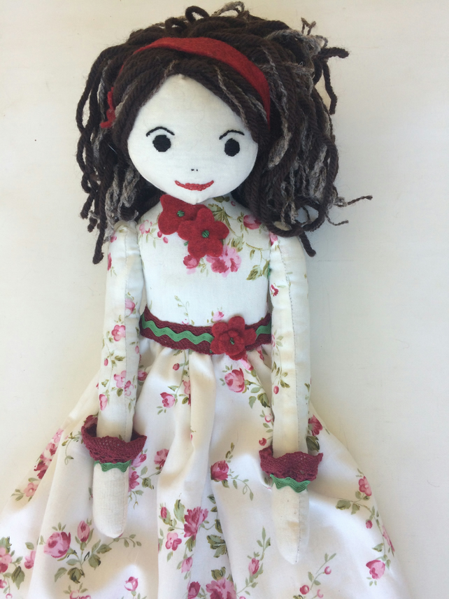Victoria rag doll nightdress case
