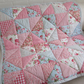 Handmade Shabby Chic Patchwork  Quilt - Throw