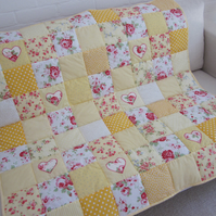 Handmade Patchwork  Quilt -Throw