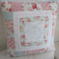 Handmade Patchwork  Cushion Cover.