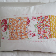 Handmade Patchwork Cushion Cover - 35cm x 45cm