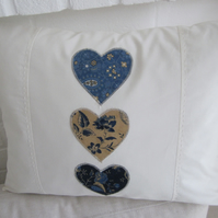 "Handmade  Patchwork cushion cover 14"" x 18"""
