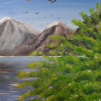 Ennerdale View 2 - Lake District - Acrylic painting on canvas
