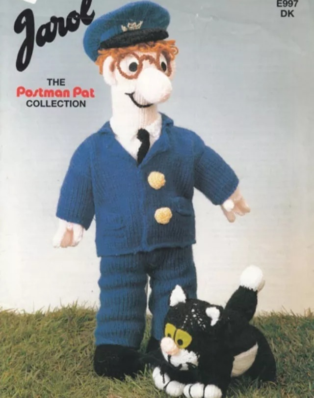 Knitting Pattern For Jess The Cat : POSTMAN PAT & JESS THE CAT KNITTING PATTERN - Folksy