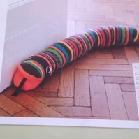 Colourful Knitted Draught Excluder Pattern