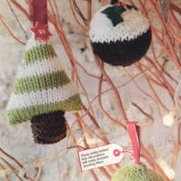 Christmas Tree Baubles Knitting Pattern