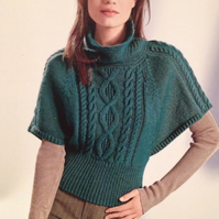 Ladies Knitted Batwing Sweater Knitting Pattern