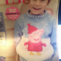 "Peppa Pig Jumper 22-24-26"" knitting pattern"
