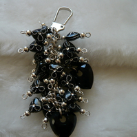 Black Heart Bag Charm
