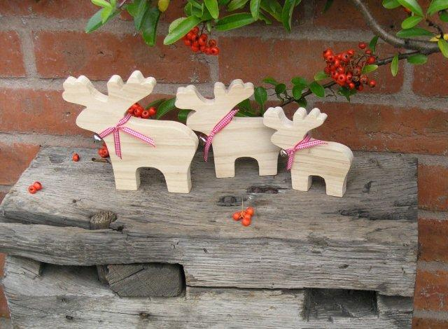 Christmas Trio of Reindeer Christmas Decorations
