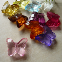 Acrylic Butterfly Beads