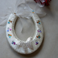 Wedding Horseshoe with Silver Butterfly