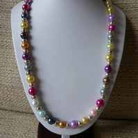 Faux Pearl Necklace and Bracelet