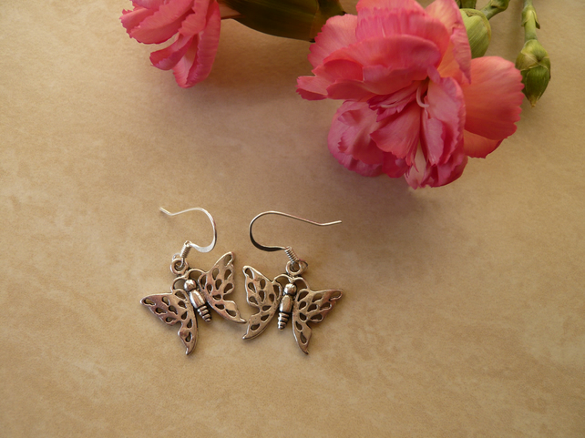 Tibetan Style Butterfly Earrings