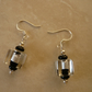 Black and Silver Cube Earrings