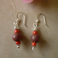 Orange Swirl polymer Clay Bead Earrings