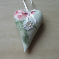 Flowered Heart Hanging Decoration