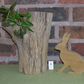 Sitting Hare in Reclaimed Oak No. 4