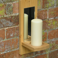 Wall Candle Holders with Mirror