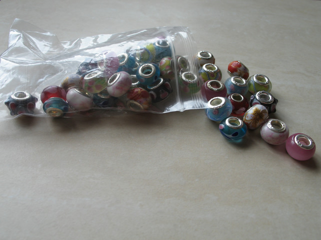 Assorted Mix of Charm Spacer Beads