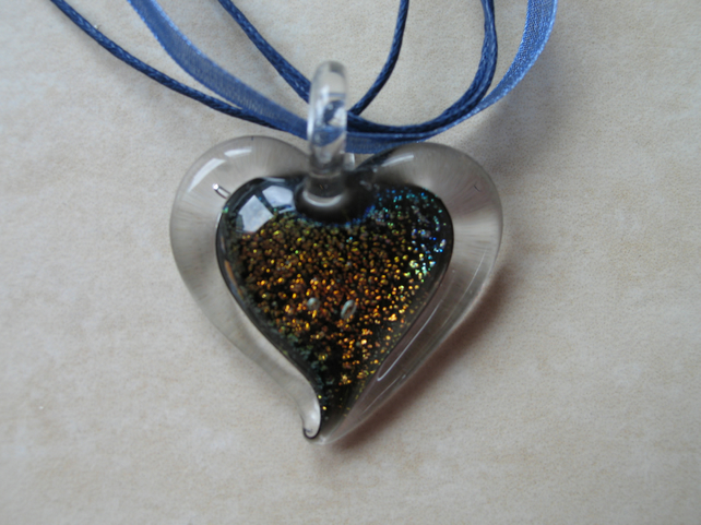 Glass Heart Pendant (Heart only)