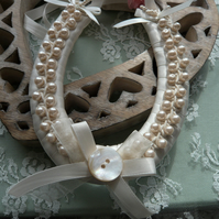 Large Ivory Cream Wedding Horseshoe