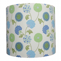 Handmade stylised flower design drum lampshade - 20cm diameter