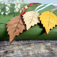 100 Autumn leaf wedding favours Rustic wedding decor Wish tree tags Place cards