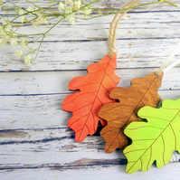 100 wood oak leaf autumn wedding favours nature decor wish tree tags place cards