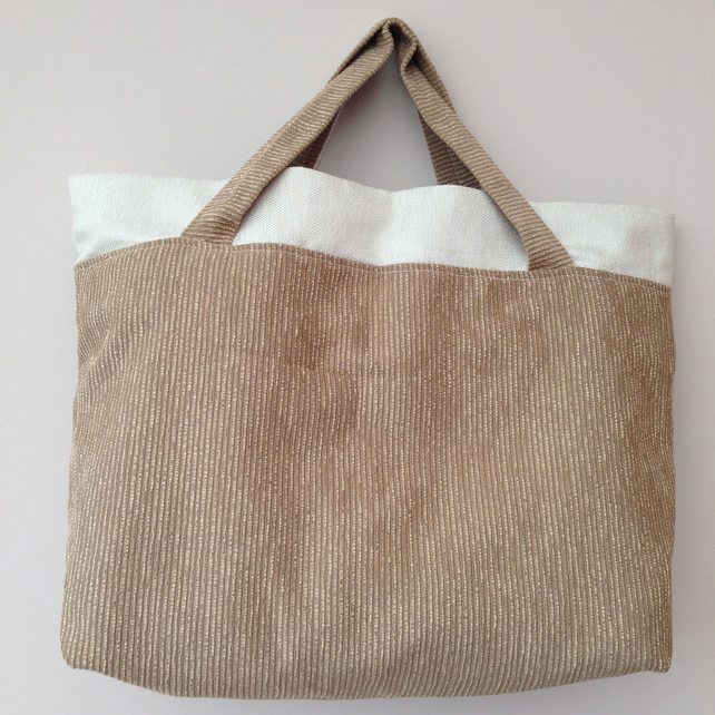 cord lined tote bag