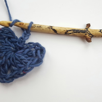 Hand whittled driftwood crochet hook,, size 9mm