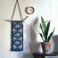 Tunisian crochet wall-hanging
