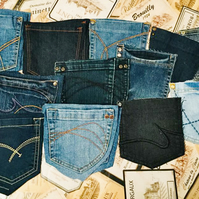 Denim Jeans Recycled 22 Reclaimed Pockets