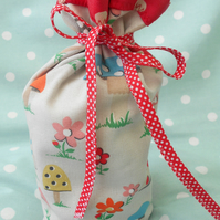Doorstop cover, handmade from Cath Kidston fabric