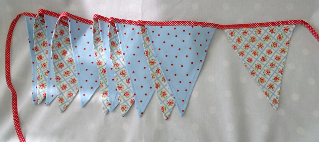 Bunting, handmade from Cath Kidston fabric