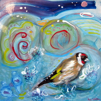 Original painting Goldfinch