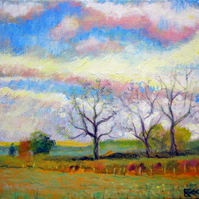 Original painting Big Sky Autumn Dawn