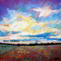 Original painting Big Sky Sunrise